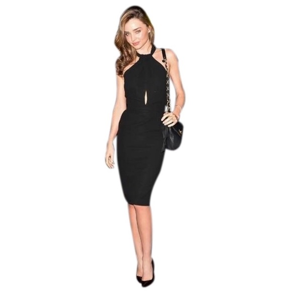 Giambattista Valli Dresses & Skirts - Giambattista Valli Black Cady Halter Dress